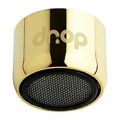 Водосберегающий аэратор DROP CL22-GLD для крана, расход 5л/мин, внутренняя резьба 22мм, цвет золото