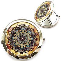 Зеркало косметическое Золотые узоры (163-13713100)