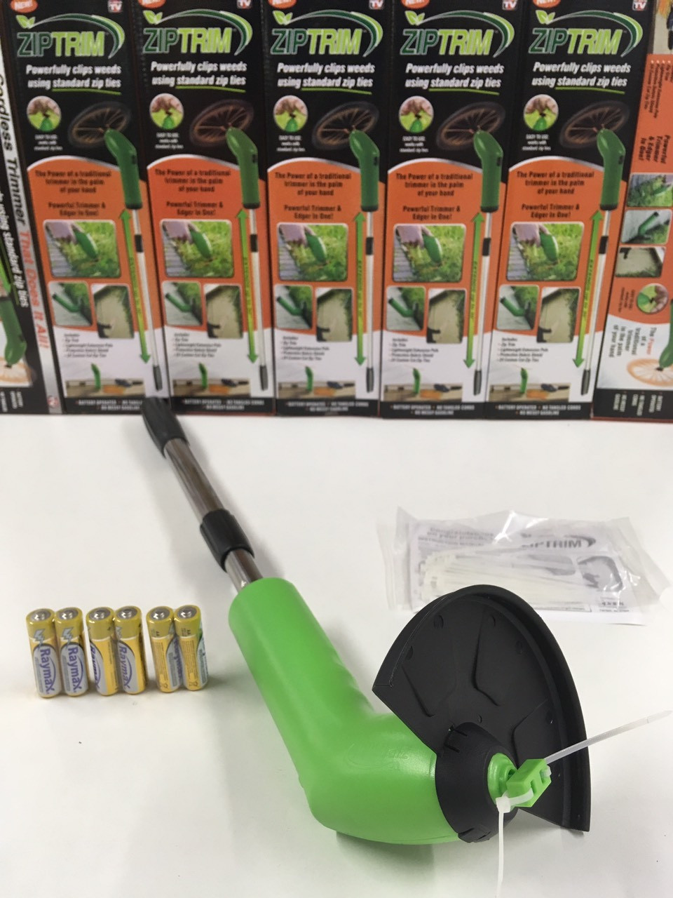Триммер-газонокосилка для сада Zip Trim, на батарейках, фото 1