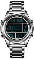 Мужские наручные электронные часы Skmei 1448 Lost. Кварцевые часы с подсветкой и будильником