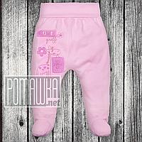 Ползунки (штанишки) на широкой резинке р. 80-86 ткань КУЛИР 100% тонкий хлопок ТМ Авекс 3166 Розовый2, фото 1