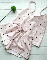 Нежная розовая пижама из сатина
