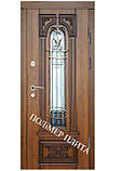 Двери входные из полимер плитой с ковкой, фото 4