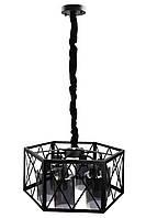 """Люстра потолочная подвесная в стиле """"LOFT"""" (лофт) (30х50х50 см.) Черный матовый YR-12176/6-gr"""