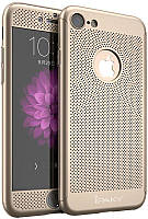 Чехол-накладка Ipaky 360°Protection PC Case with heat-dissipation design iPhone 7 Gold #I/S