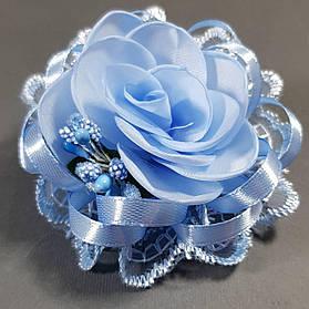 Бантик дитячий Трояндочка 20 блакитний