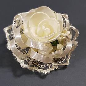 Бантик дитячий Трояндочка 22 шампань
