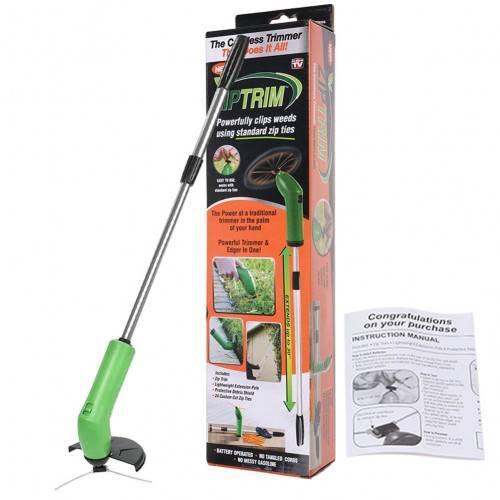 Портативная триммер-газонокосилка для сада Zip Trim, на батарейках