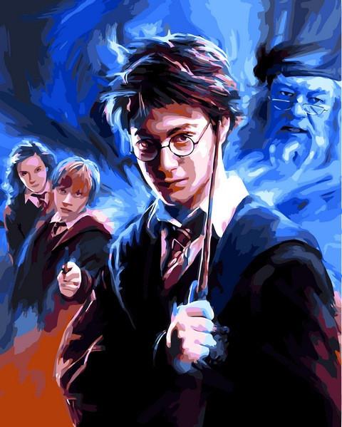 Раскраски по номерам 40×50 см. Гарри Поттер