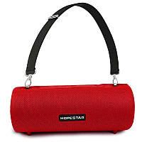 Портативная акустическая Bluetooth колонка Hopestar H39 влагостойкая красная - 140051