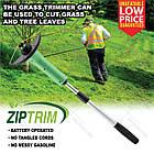 Портативная триммер-газонокосилка для сада Zip Trim, на батарейках, фото 4