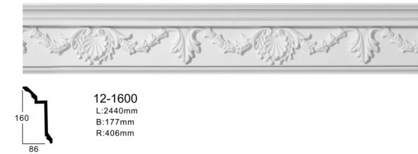 Карниз потолочный с орнаментом Classic Home 12-1600, лепно декор из з полиуретана