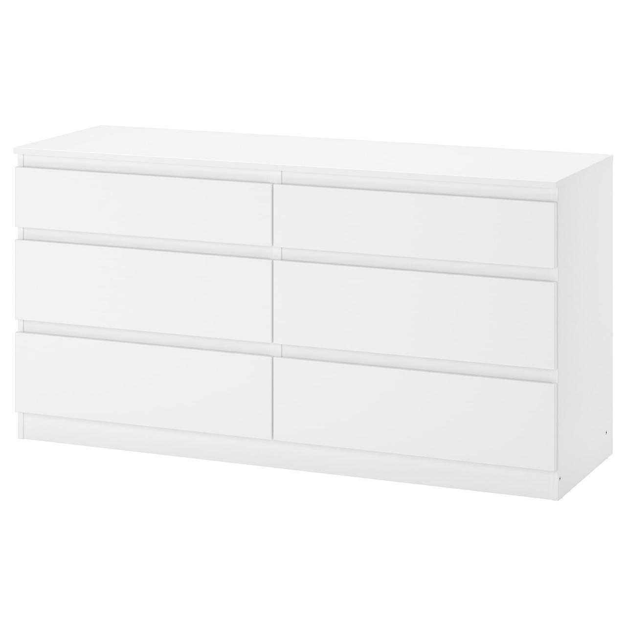Комод IKEA KULLEN 140x72 см 6 ящиков белый 903.092.45