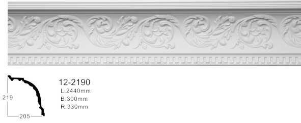 Карниз потолочный с орнаментом Classic Home 12-2190, лепно декор из з полиуретана