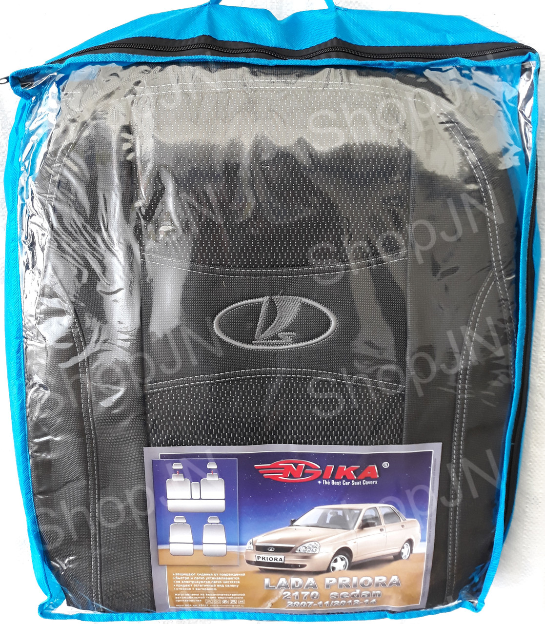 Авто чехлы Lada 2170 Priora 2007-2011 / 2012-2014 sedan Nika