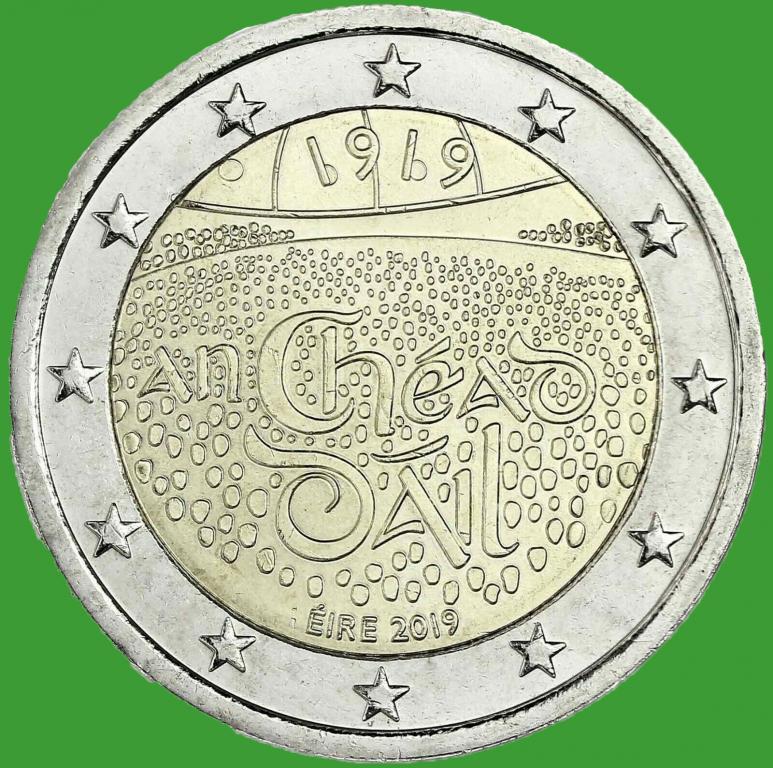 Ирландия 2 евро 2019 г. 100-летие со дня первого заседания Дойл Эрен . UNC.