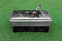 Портативная коптильня с термометром для горячего и холодного копчения.