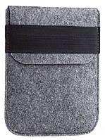 Чехол войлочный на резинке Gmakin для Amazon Kindle Paperwhite Светло-серый (GK01)
