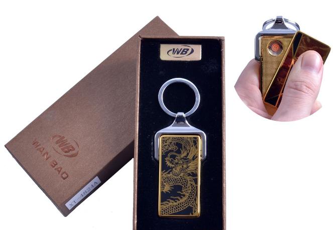 """USB зажигалка в подарочной упаковке """"Дракон"""" (Спираль накаливания)"""