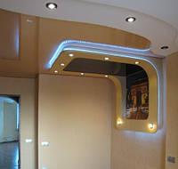 Двухуровневый натяжной потолок, фото 1