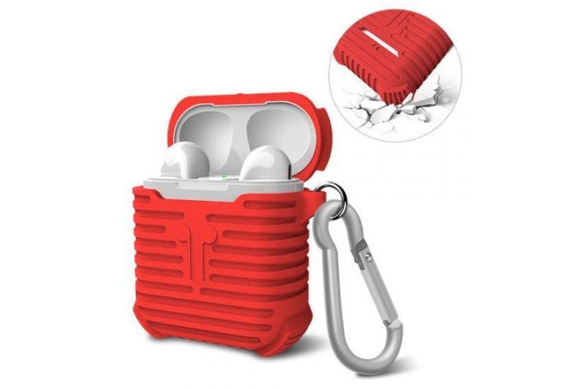 Чехол для наушников Grand I-Smile для Apple AirPods Red (AL1560)