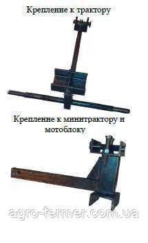 Крепление граблей ГВР-4Т (солнышко) к трактору
