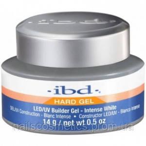 IBD LED/UV Builder Gel  Intense WHITE 14g - гель конструирующий  ярко-белый