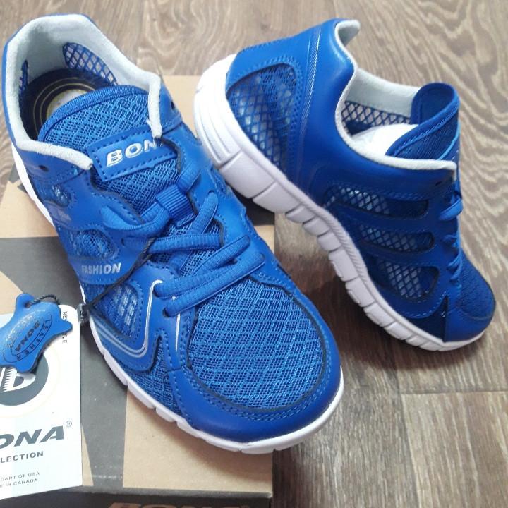 Кроссовки Bona сетка синие размер 37
