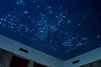 Натяжной потолок с системой звездное небо