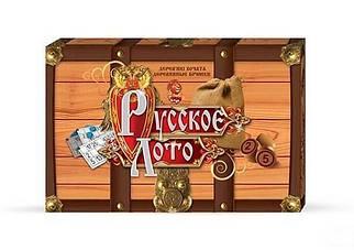 Игра настольная Danko Toys Русское лото в коробке, деревянные бочонки (Рус) (DT G39Gr)