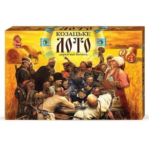 Игра настольная Danko Toys Казацкое лото (Козацьке лото) в коробке, деревянные бочонки (Укр) (DT G48)
