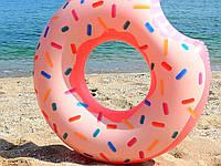 Надувной круг Intex Пончик (Donut) 56265 для отдыха на море и в бассейне ( тм Интекс)