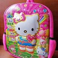 Детский мягкий 3D рюкзак  «Китти»  ( кошечка )