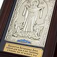 """Ключниця настінна дерев'яна з посрібленим образом Божої Матері """"Покрова Пресвятої Богородиці"""", фото 3"""