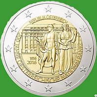 Австрия 2 евро 2016 г. 200-летие Национального банка Австрии . UNC.