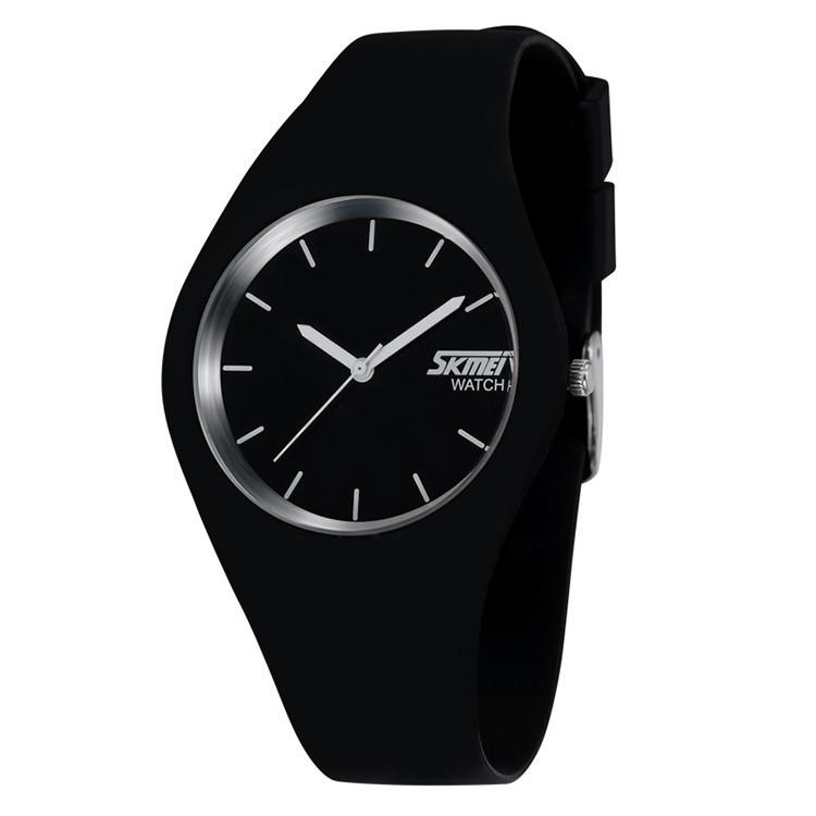 Skmei 9068 rubber чорні жіночі класичні годинник