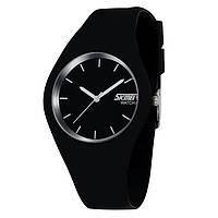 Skmei 9068 rubber чорні жіночі класичні годинник, фото 1