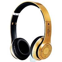 Bluetooth наушники с микрофоном MP3 FM S460 золотистые