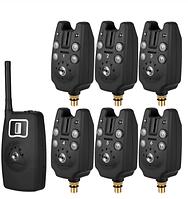 Набор сигнализаторов поклевки с пейджером Lixada JS-4 комплект 6 + 1