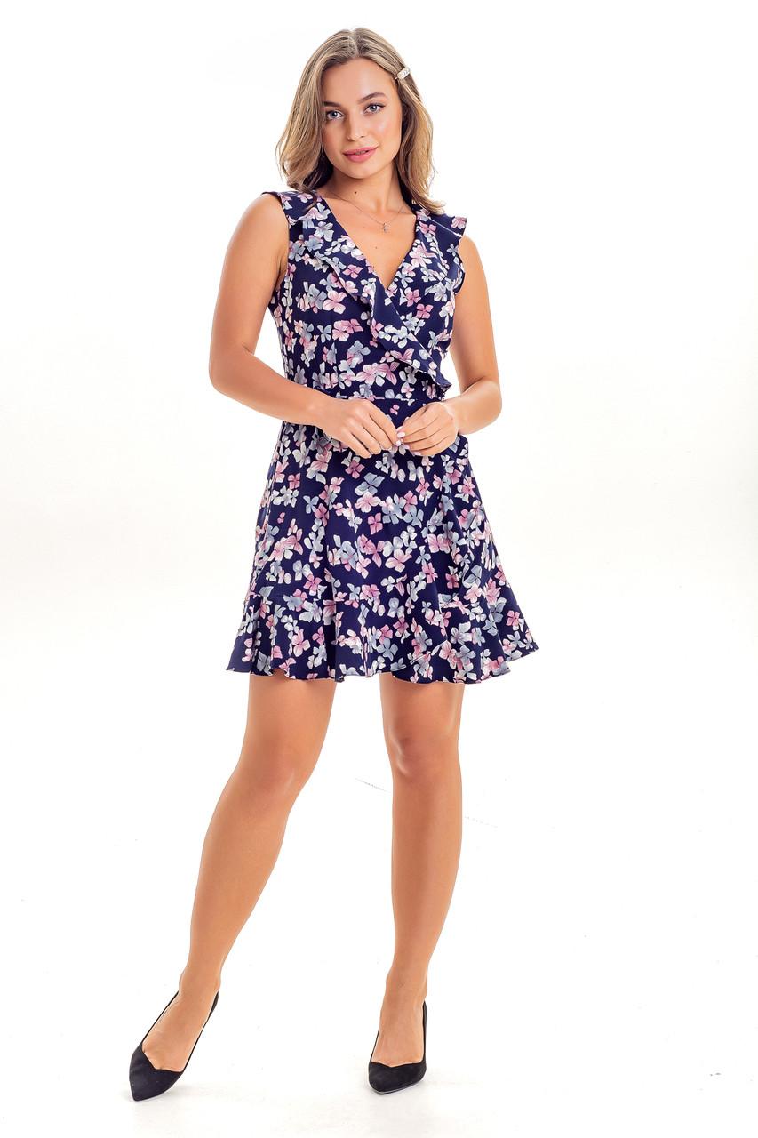 Летнее женское платье с запахом, фото 1