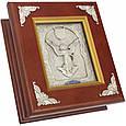 """Ключниця настінна дерев'яна з посрібленою іконою """"Янгол Охоронець"""", фото 2"""