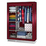 Складной каркасный тканевый шкаф Storage Wardrobe, фото 6
