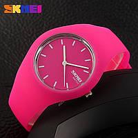 Skmei 9068 rubber  розовые женские спортивные часы, фото 1