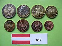 Австрия , набор евро монет 2012 г. UNC.