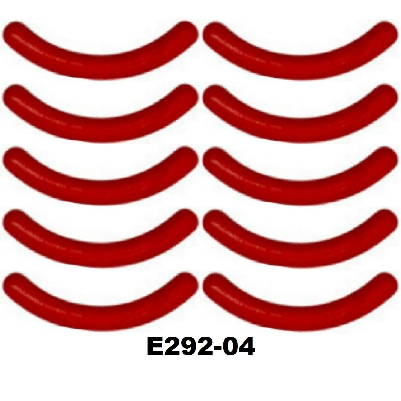 Сменные резинки в щипцы для завивки ресниц (15 видов) Силикон 10 шт, Красный