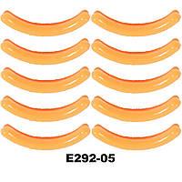 Сменные резинки в щипцы для завивки ресниц (цвета в ассортименте) Силикон 10 шт, Оранжевый