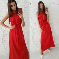 Женское стильное платье миди на лето