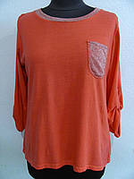 Джемпер  комбинированный из трикотажа (р-р.42-48 ) код 1171М