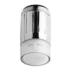 💧Водосберегающая насадка аэратор на кран c LED подсветкой DROP воды LED3P-22/24, расход 7 л/мин, универсальная резьба 22/24 мм, 3 цвета (переключение