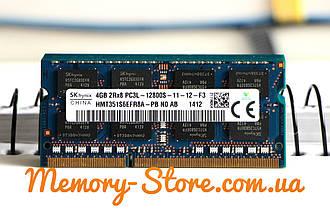 Оперативна пам'ять для ноутбука Hynix DDR3 4GB PC3L-12800S 1.35 V SODIMM (б/у)